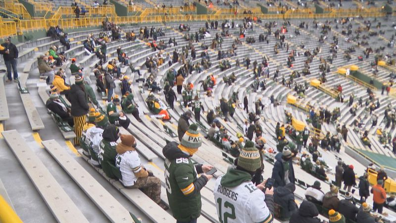 Nearly 9,000 fans were allowed inside Lambeau Field on Saturday for the Green Bay Packers...
