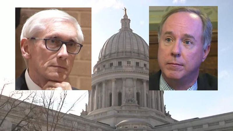 Governor Tony Evers and Assembly Speaker Robin Vos