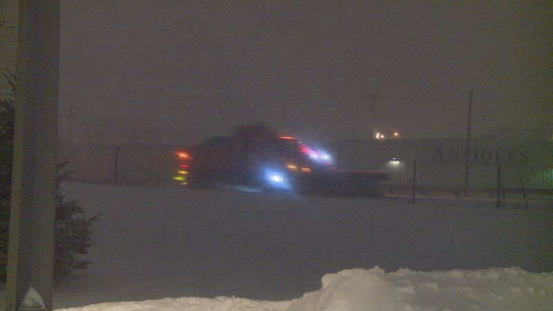 The Dane County Highway Department said they expect snow plows to be out all night keeping...