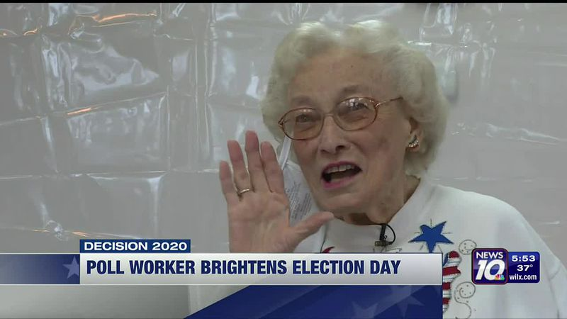 Violet Lentz has been opening polls in Wheatfield Twp the same way for decades.