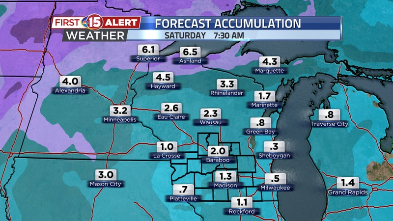 Accumulation of snow will be possible later this week on Thursday and Friday. These are the...
