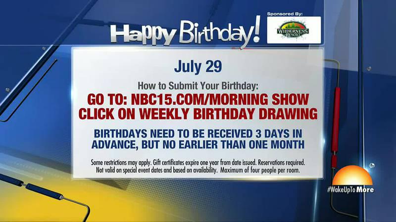 Birthdays for Thursday, July 29