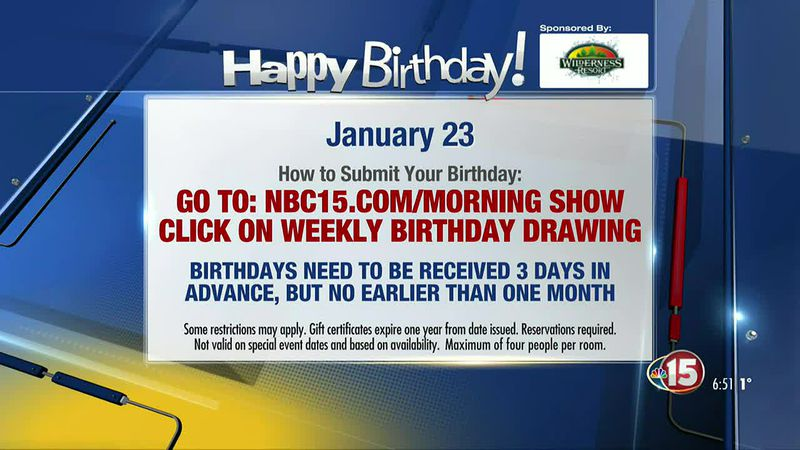 Happy Birthday from NBC15 and the Wilderness Resort!