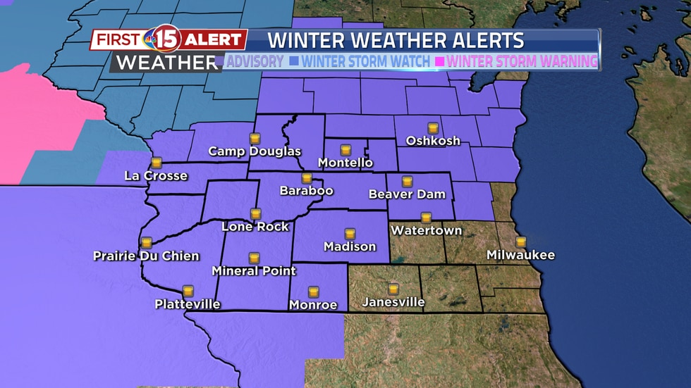 A Winter Weather Advisory is in effect across southern Wisconsin for this afternoon and...
