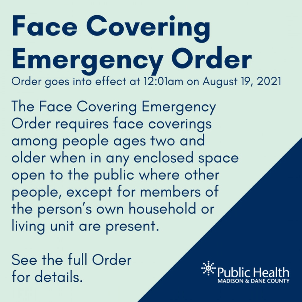 Explainer image of the new mandate provided by county health officials.