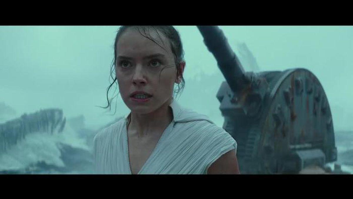 Daisy Ridley returns as Rey, Adam Driver as Kylo Ren and John Boyega as Finn.(Source: Walt Disney Pictures)