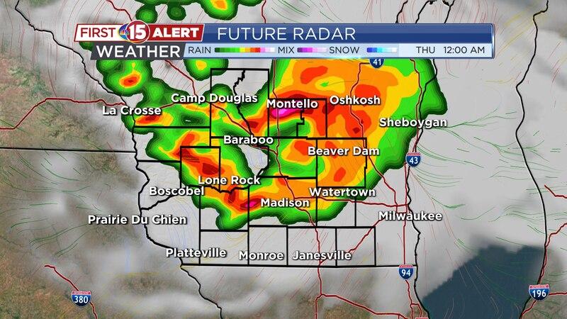 Future Radar - Thursday 12AM