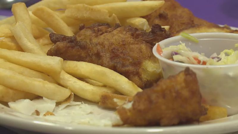 A meal from a Fish Fry at St. Maria Goretti (2019)