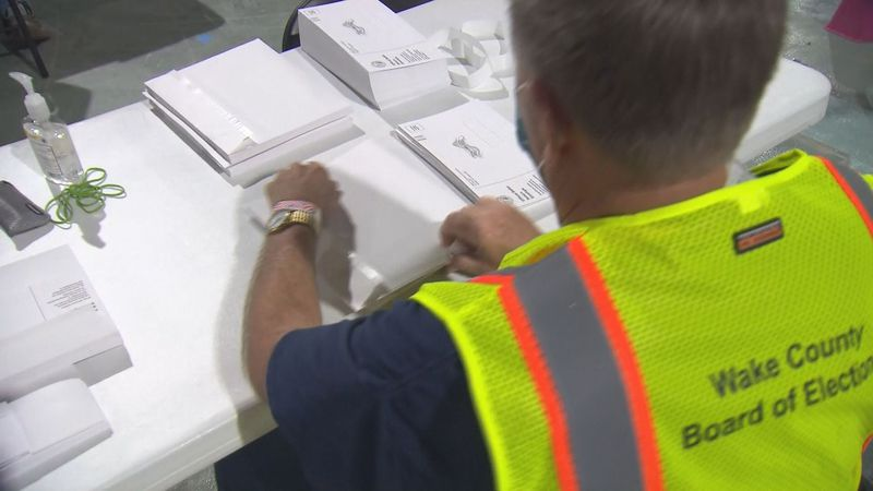 Wake County Board of Elections stuff absentee ballots