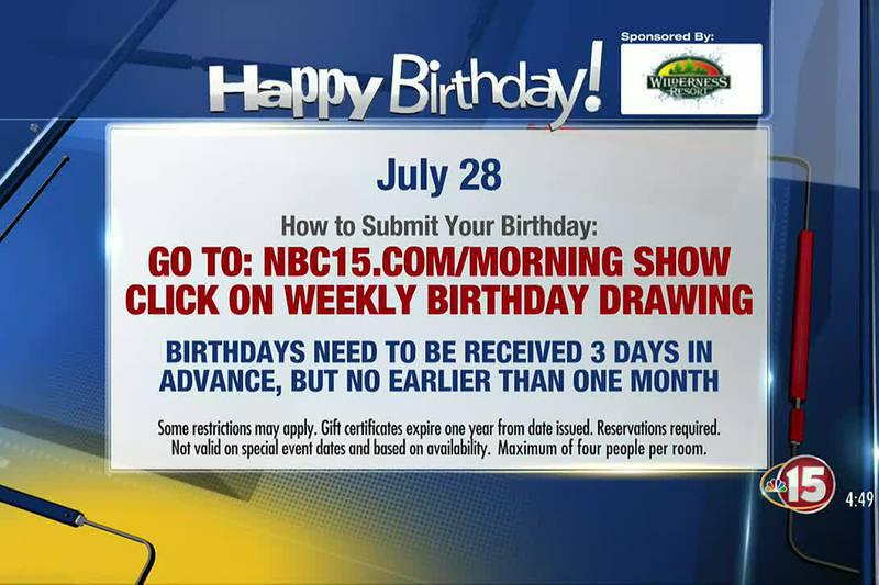 Birthdays for Wednesday, July 28