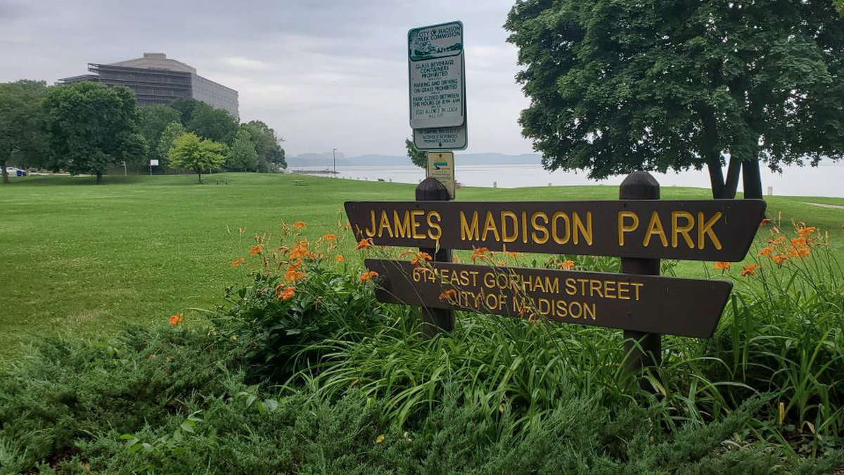 The Madison Police Dept. investigate a late morning shooting, on Wednesday, July 7, 2021.