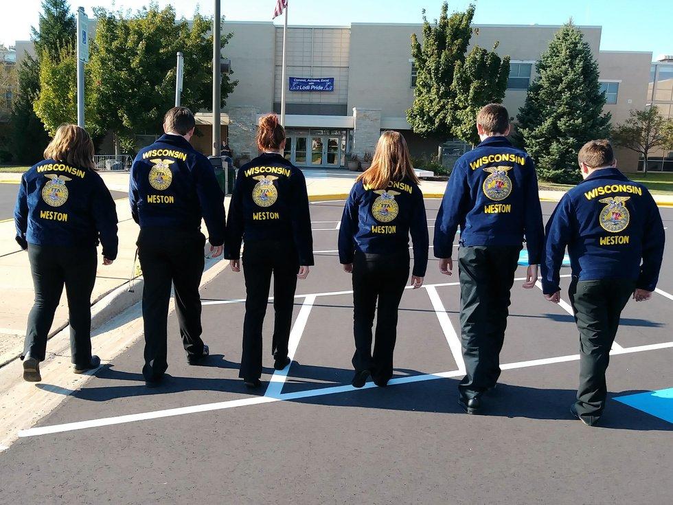 Weston HS FFA students