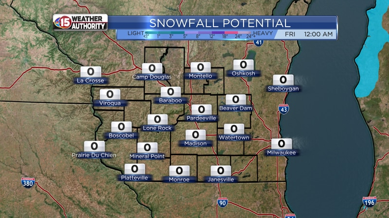 Snowfall Potential - Today - Friday