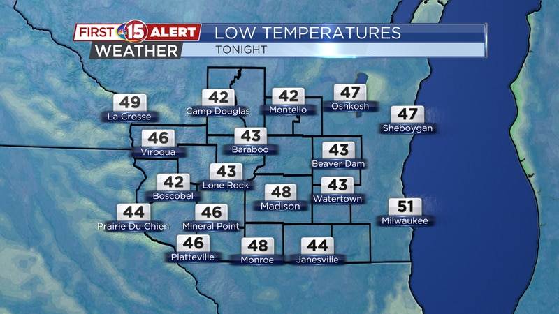 Low Temperatures - Monday Night