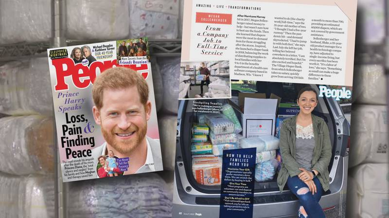 The cover and article on Megan Sollenberger in PEOPLE magazine's Life Transformations issue.