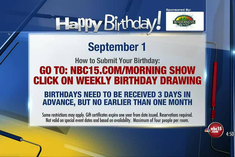 Birthdays for Wednesday, September 1