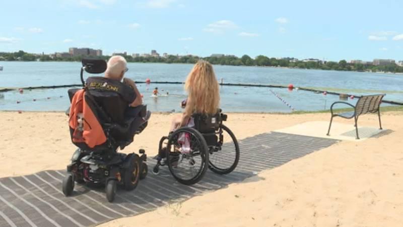Accessible Beach Mat at Bernie's Beach