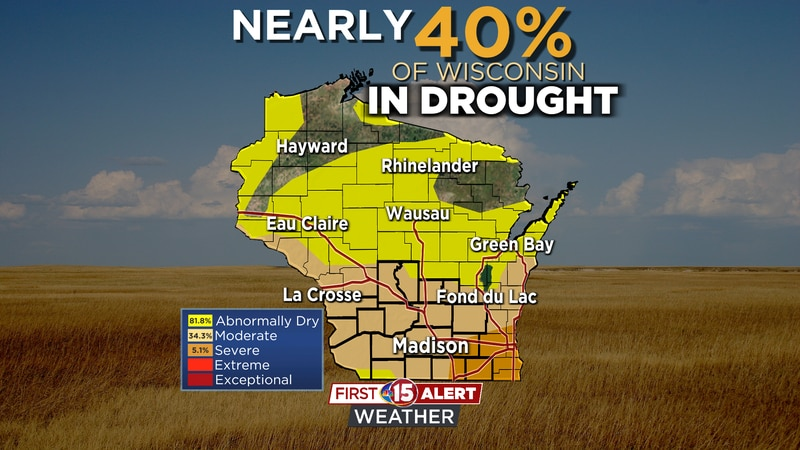 The latest Drought Monitor shows a persisting & expanding severe/moderate drought over southern...