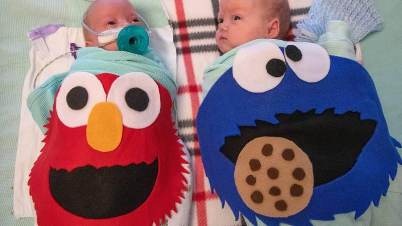 Mercyhealth NICU babies receive special homemade Halloween costumes made by nurse JoAnn Gorsline.