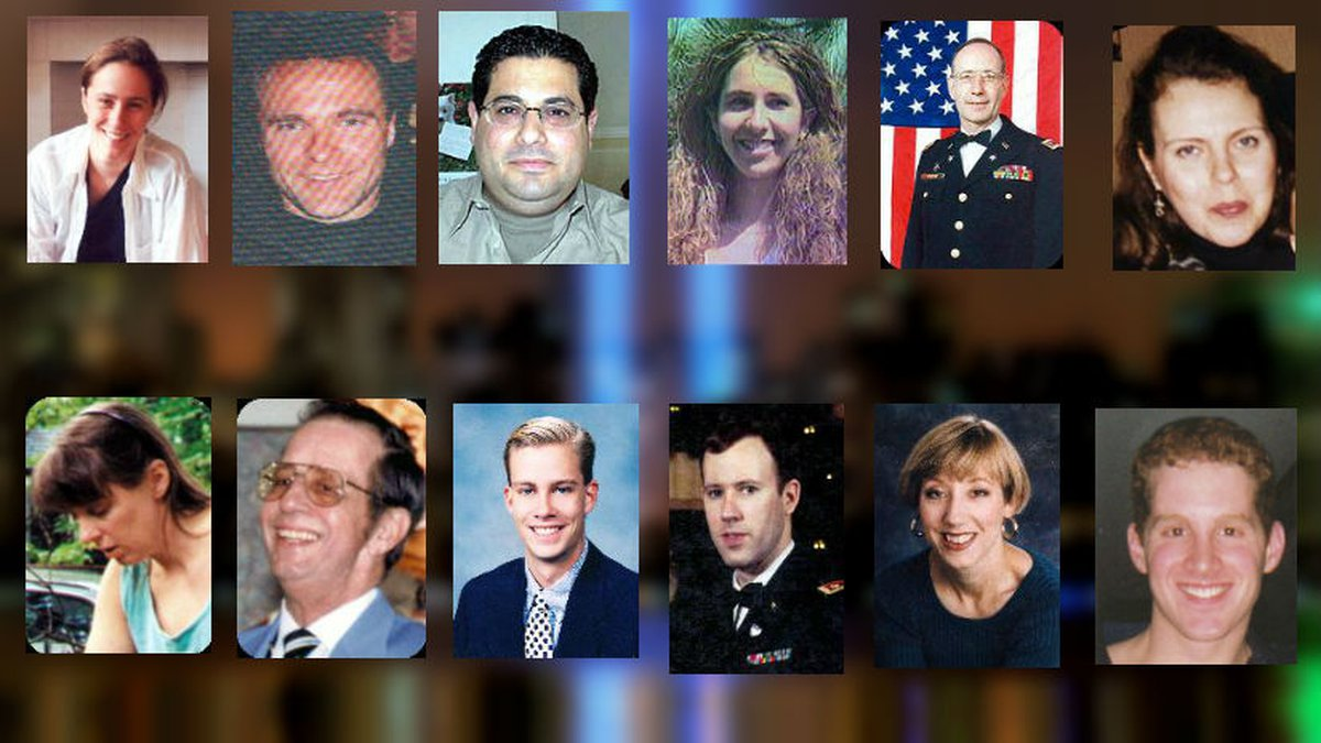 Photos of 12 people with Wisconsin ties killed during the terrorist attacks on Sept. 11, 2001.