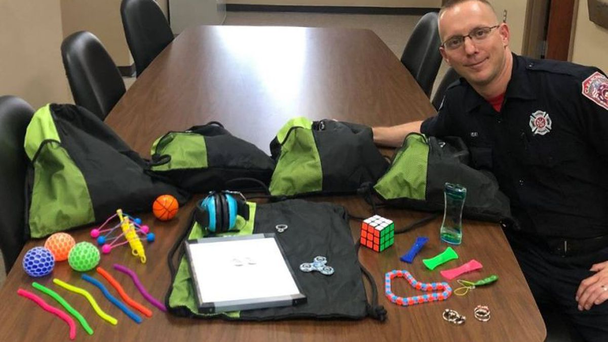 Fire department adds sensory bags (Courtesy Clearcreek Township Fire Department)