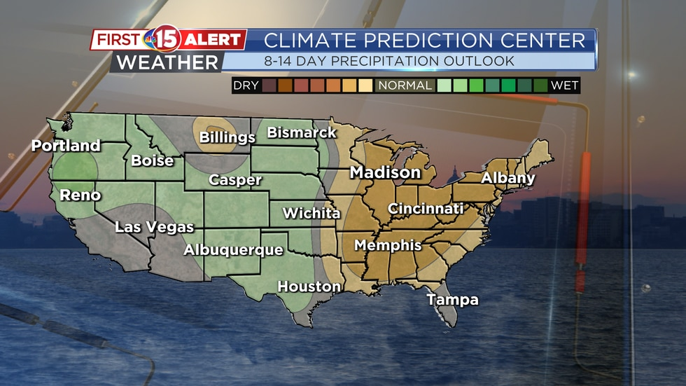 Southern Wisconsin leans towards below-average precipitation for the beginning of October.