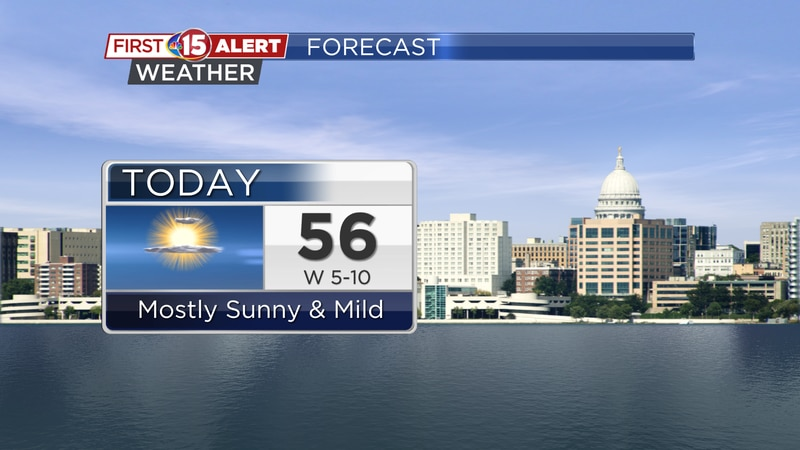 Lots of sun and mild temperatures are on the way today.