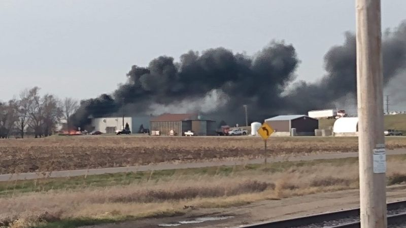 Fire at Janesville manufacturing and distribution facility.