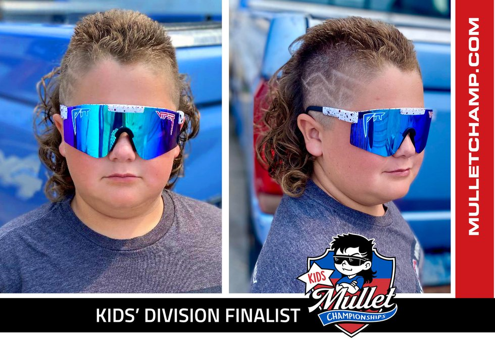 JD is a finalist in the 2021 kids' mullet championship.