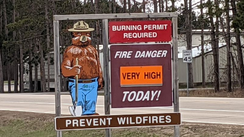 The increased fire danger is due to low humidity and warm air across Wisconsin, which are...