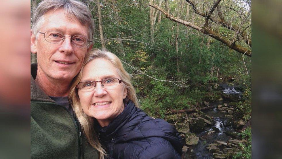 Jim and Nedra Lemke on a nature walk