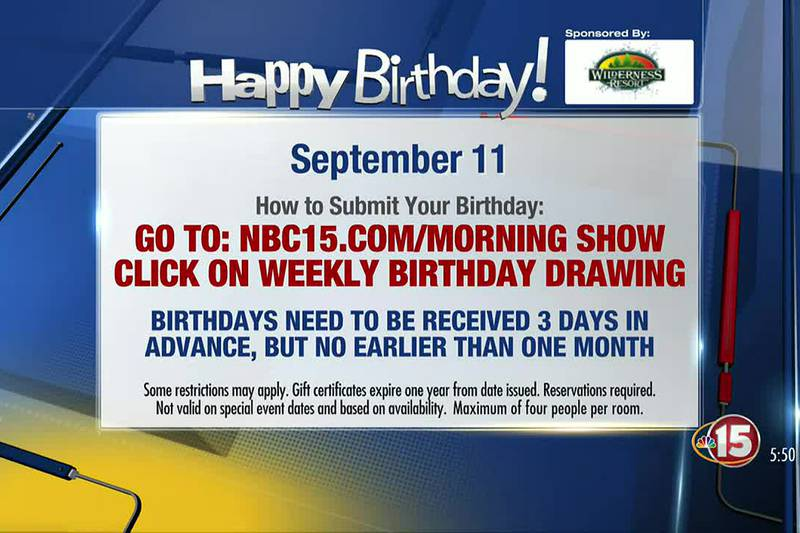 Birthdays for Saturday, September 11