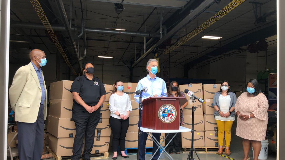 Dane County announces a program designed to deliver 100,000 free face masks to those who need them.