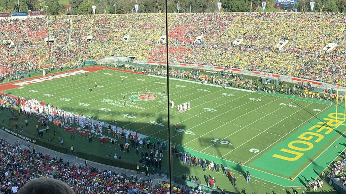 The 106th Rose Bowl from the press box. (WMTV)