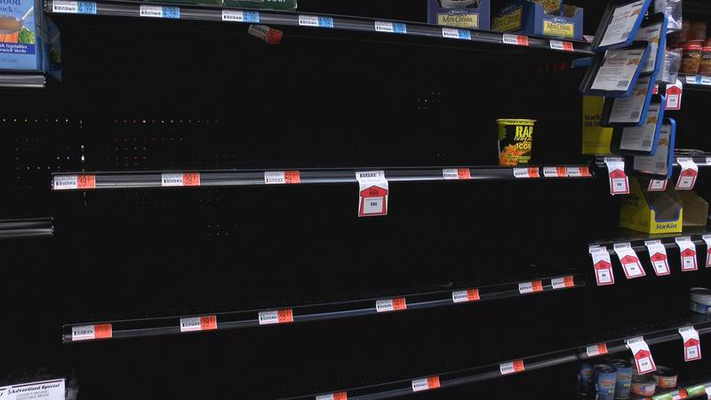 Customers react to low stock in grocery items