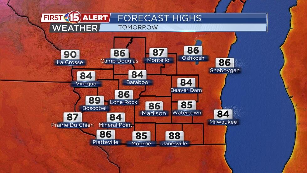 Forecast Highs - Monday