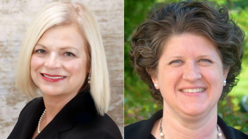 Deborah Kerr (left) and Jill Underly