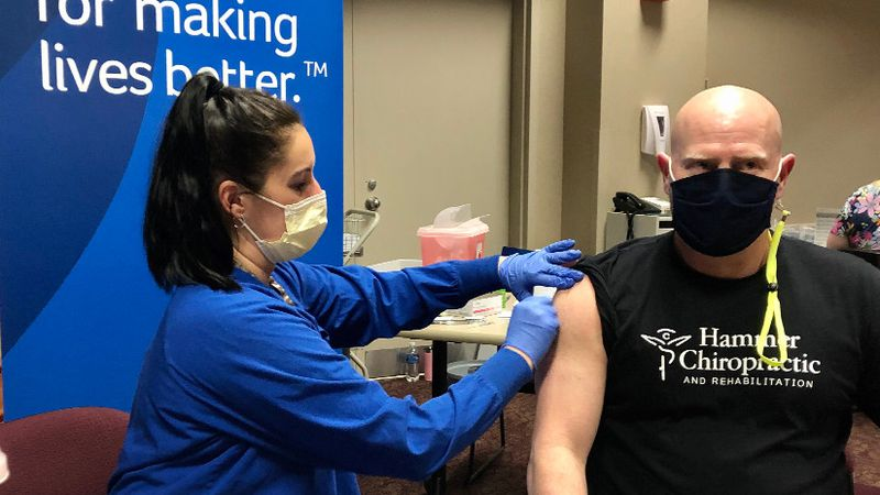 Dr. Chris Hammer of Hammer Chiropractic in Milton, and his entire team got vaccinated at...
