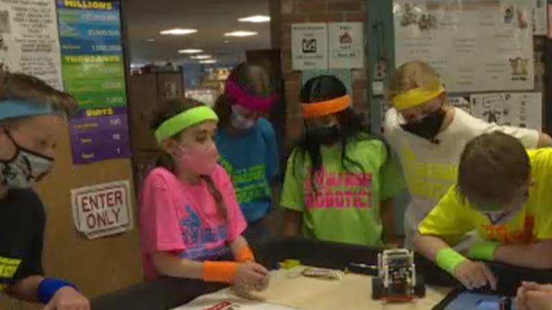 The robotics team gets to work