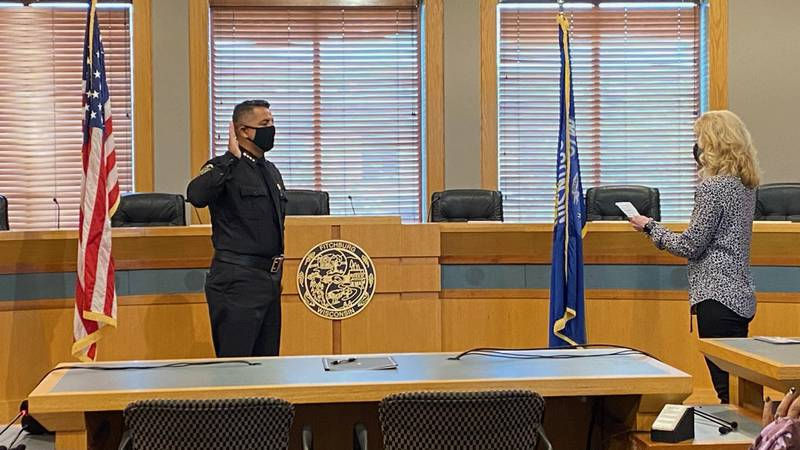Alfonso Morales, the former chief of the Milwaukee Police Dept., was sworn in Friday as...