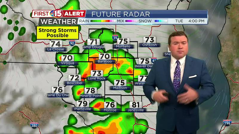 James' Evening Forecast - Scattered showers and storms return Tuesday