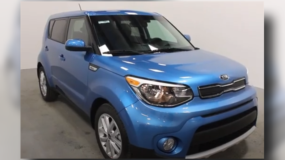 Georgia Pinkerton was last seen driving a blue Kia Soul similar to the one pictured.