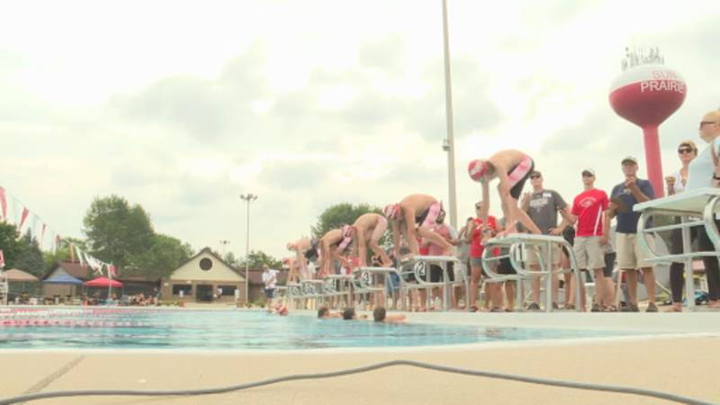 Sun Prairie Piranhas at a conference meet on Saturday, July 24.