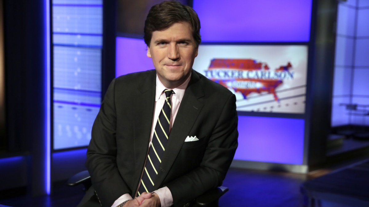 "FILE - In this Thursday, March 2, 2107 file photo, Tucker Carlson, host of ""Tucker Carlson..."