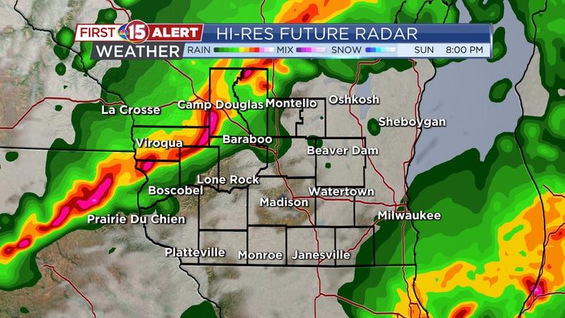 Future Radar Sunday 8PM