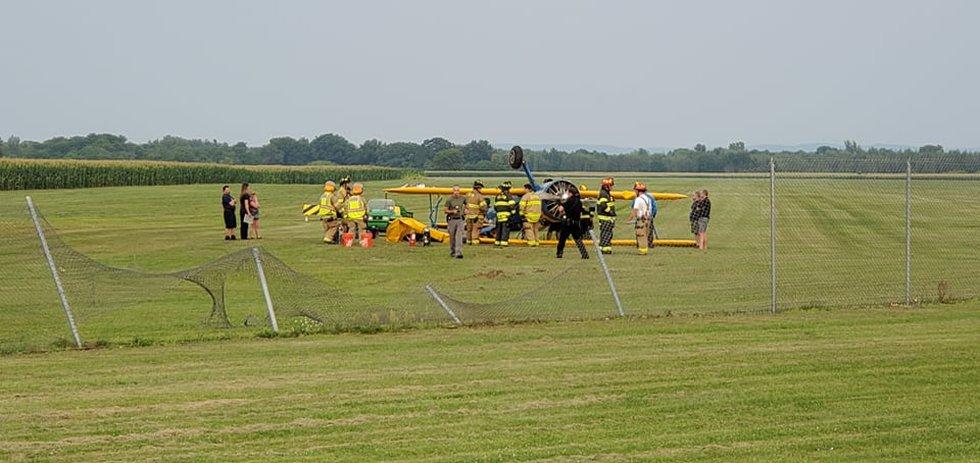 Plane crash in Baraboo.