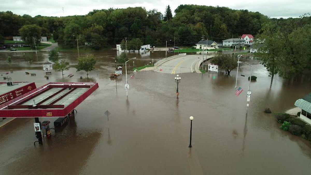 Flooding in Darlington on Oct. 3, 2019.