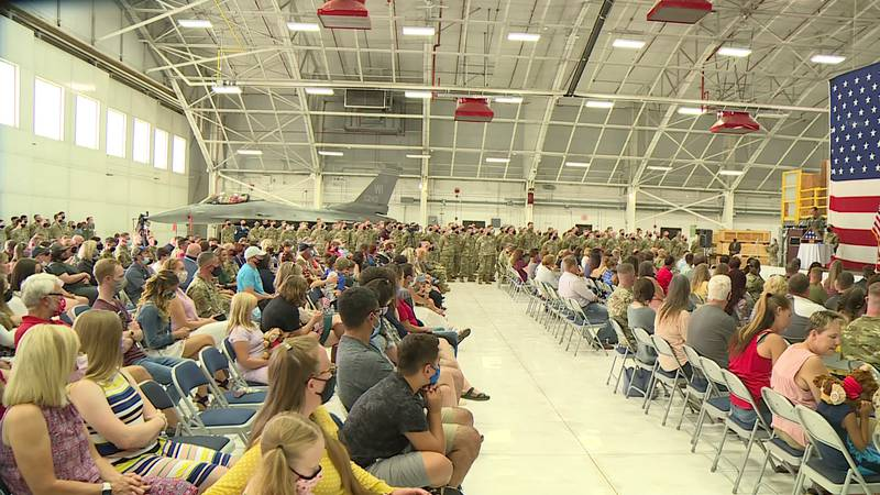 The airmen will deploy to southwest Asia for about 90 days later in September.