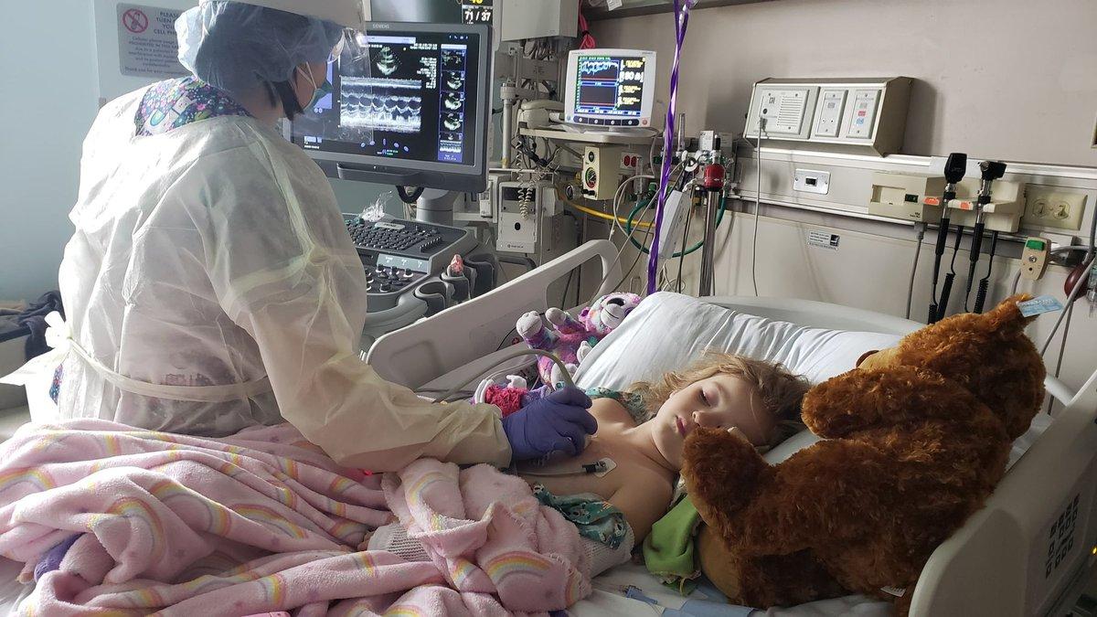 Lily Lavin, 4, of Hazelhurst receives treatment for MIS-C