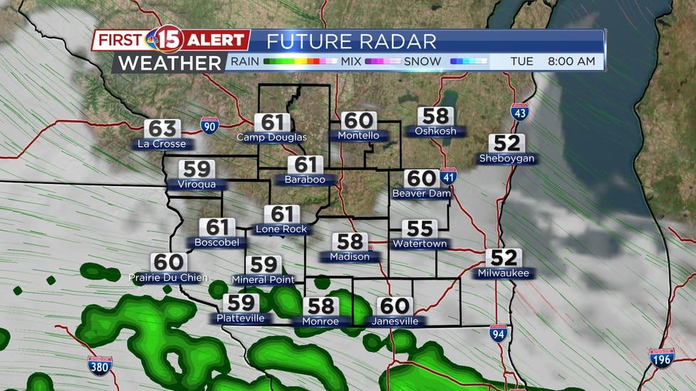 Future Radar Tuesday 8AM